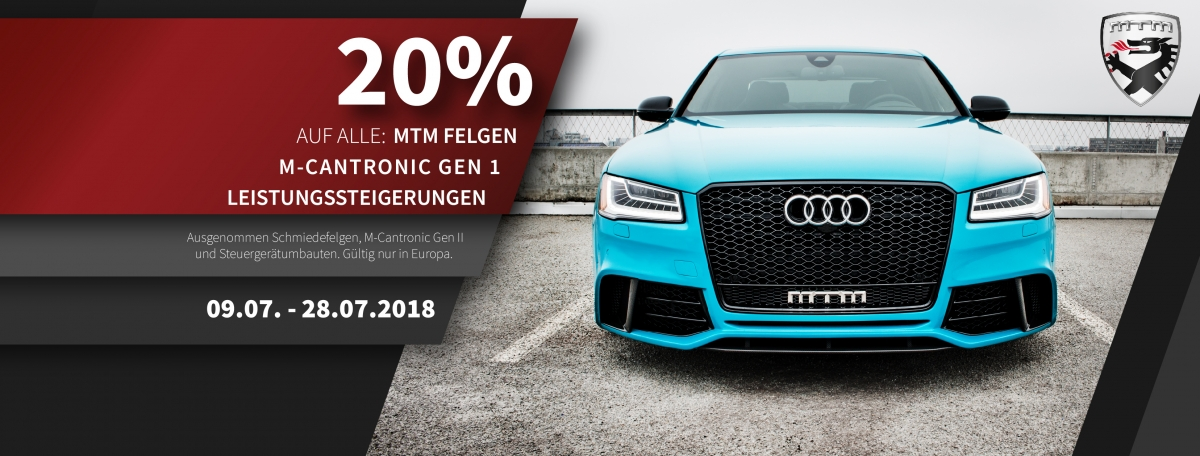 CAR-ART News - MTM-Sommeraktion2018 - 20% -